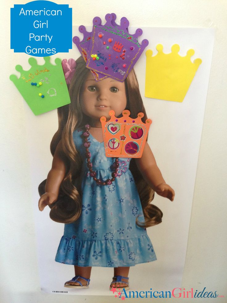 American Girl Party Games: Pin the Crown on the Doll
