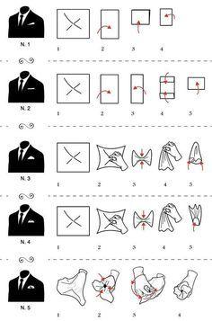 5 formas de usar um lenço no bolso do blazer.