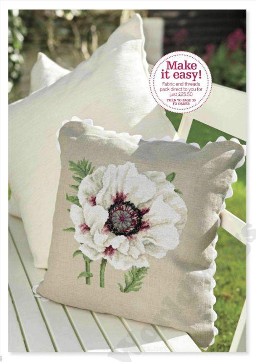 Spring flower pillow