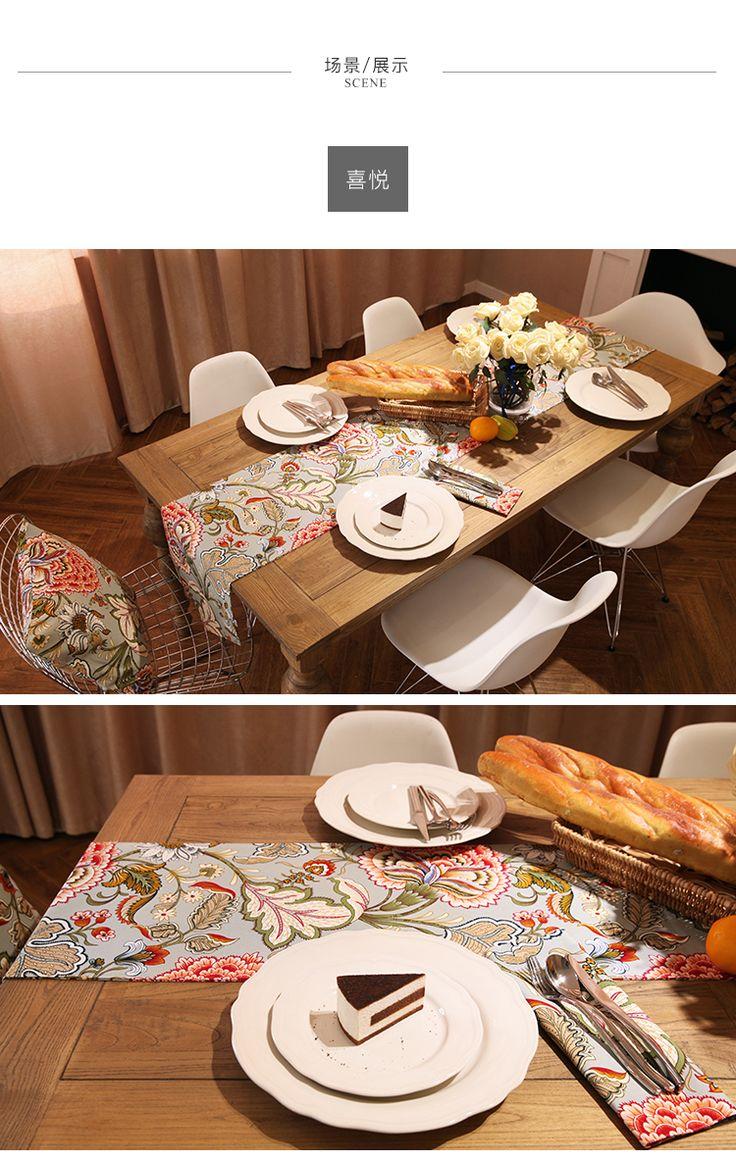[Кино дома] радость цветок американский пастырской стиль обеденный стол бегуны журнальный столик TV шкаф ткань флаг флаг на заказ кровать - глобальной станции Taobao