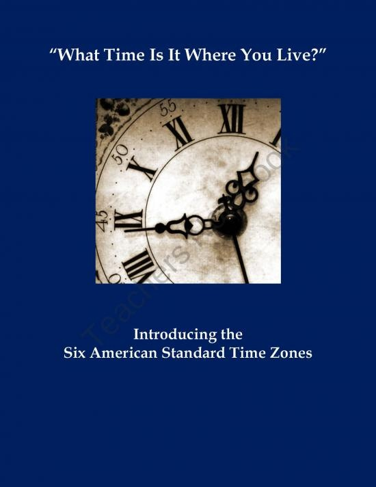 What Time Is It? Introducing American Standard Time Zones Assignment product from MisterMitchell-com on TeachersNotebook.com
