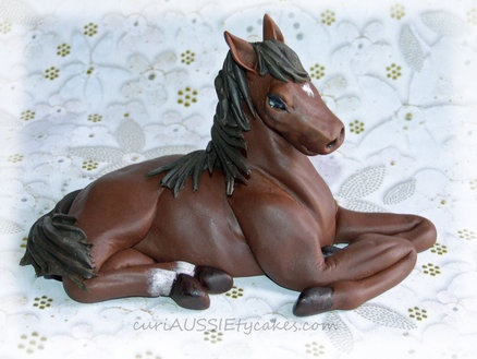 Fondant Horse figurine  Cake by shags