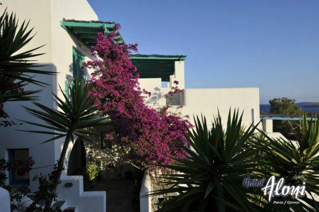Outside view of Aloni Paros hotel