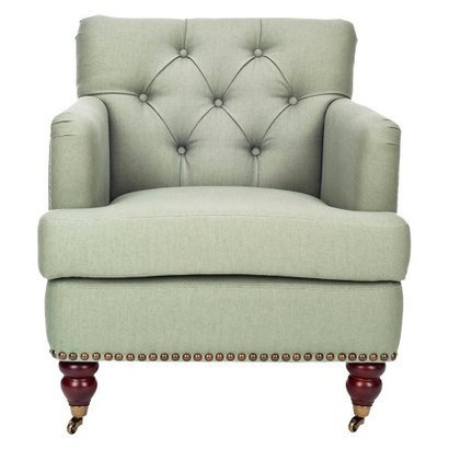 Safavieh Colin Tufted Sage Club Chair with Castors.Opens in a new window