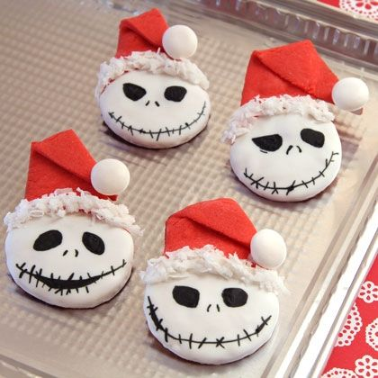 Jack Skellington's Sandy Claws Cookies - i'd make it without hat for halloween