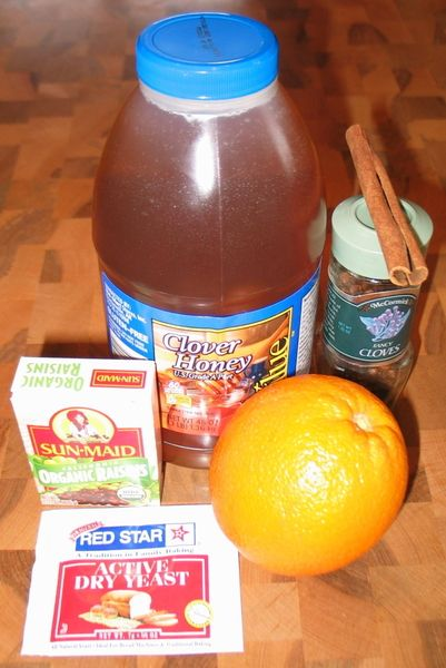 ANCIENT ORANGE MEAD / the other thing we would sub is organic ingredients where the recipe does not call for them