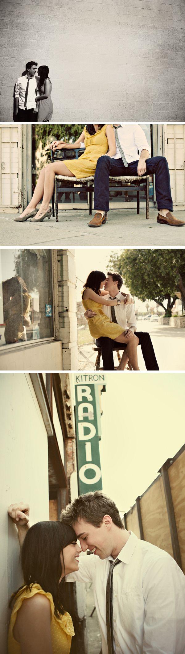 yellow dress - urban engagement