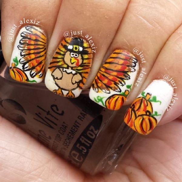 Nail Designs: Thanksgiving Nails