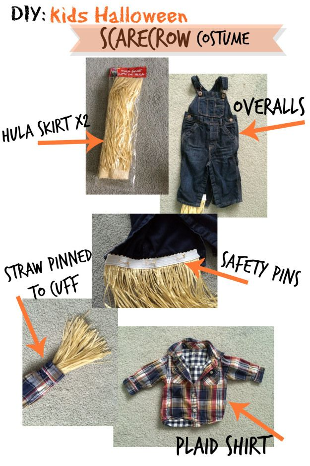 DIY Halloween Scarecrow costume                                                                                                                                                                                 More