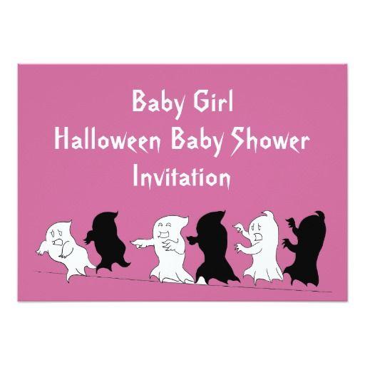 383 best halloween baby shower invitations images on pinterest halloween baby shower ghost invitations girl stopboris Images