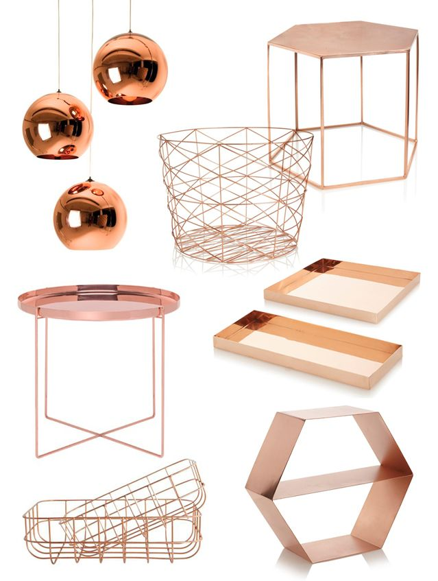 Wishlist: koperen meubels en woonaccessoires | Fashionlab