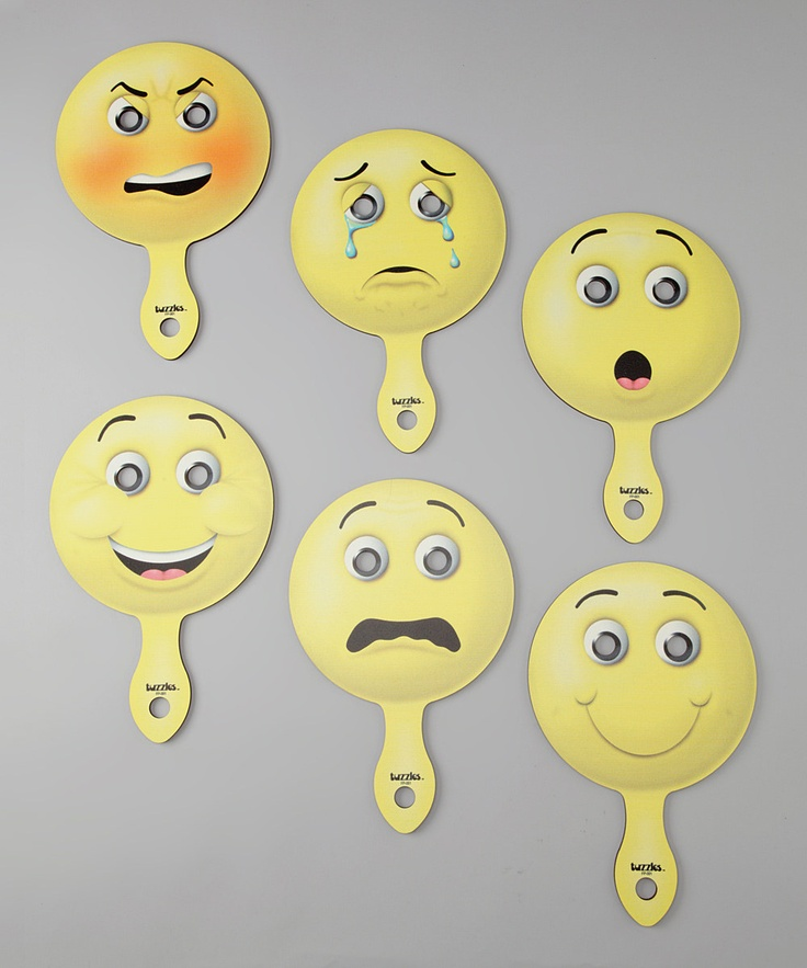 American Educational Products Human Emotion Paddle - Set of Six - DIY with small paper plates and popsicle sticks