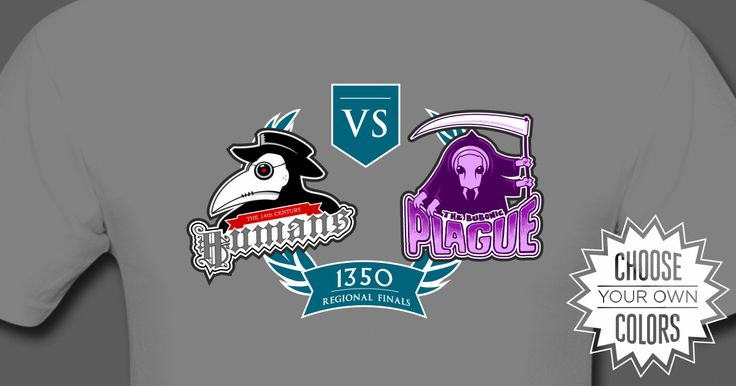 The Black Death shirt from The History League: A Plague Doctor vs a Grim Reaper styled flea to symbolize the titanic struggle between the 14th century humans and the bubonic plague
