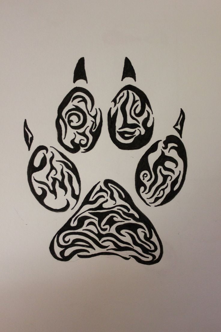 tribal tiger paw print tattoo - Google Search