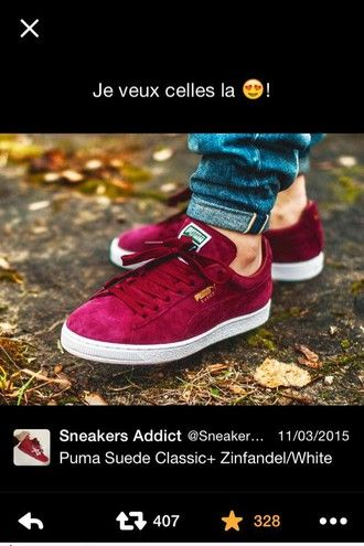shoes red puma sneakers puma suede puma suede jeans suede sneakers low top sneakers