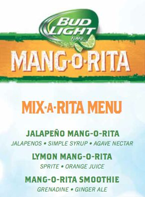 Bud Light Mang-o-Rita Cocktails