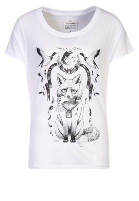 Eleven Paris T-shirt z nadrukiem biały - white top