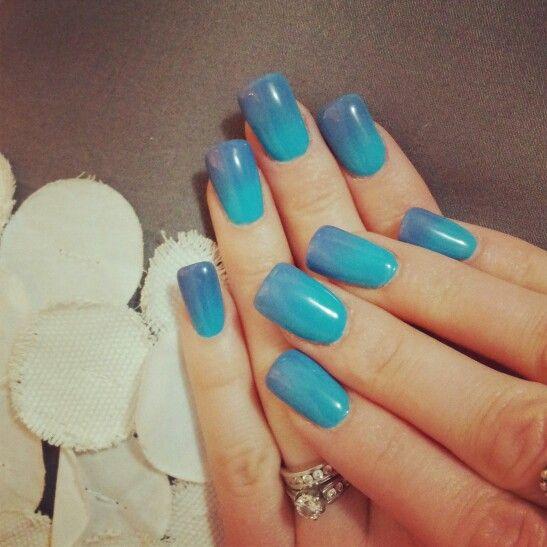 Mood Changing Shellac Blue Nails Y Part Time Pinterest Nail Polish And Art