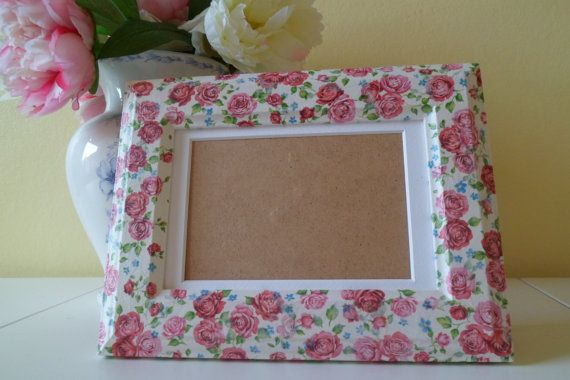 Decorative Floral Print Decoupage Photo Frame by OloveDesigns, £9.99