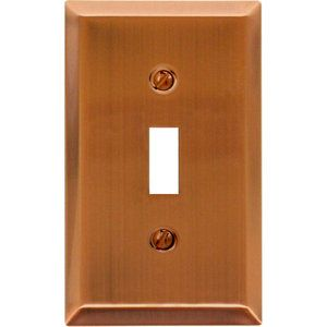 amerelle century steel 1 toggle wall plate antique the home depot