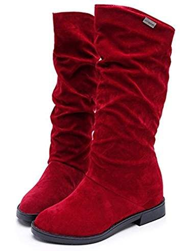 Tefamore Automne Hiver Bottes femme douce Boot élégant Flat Flock Chaussures Bottes de neige