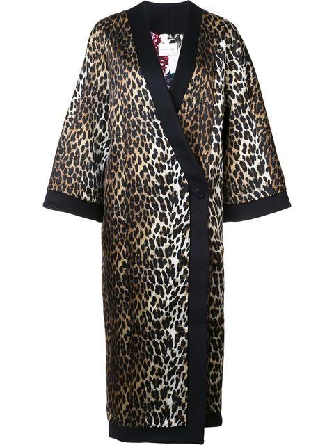 EMANUEL UNGARO Пальто С Леопардовым Узором. #emanuelungaro #cloth #узором