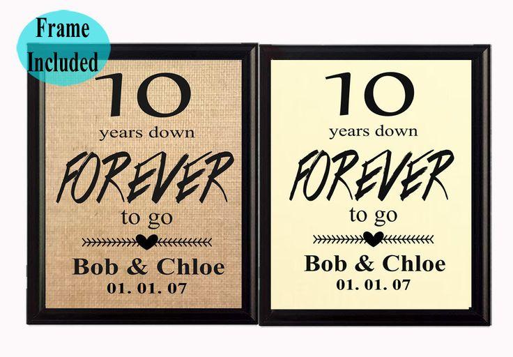 Ten Year Wedding Anniversary Gift Ideas: Best 25+ 10 Year Anniversary Gift Ideas On Pinterest