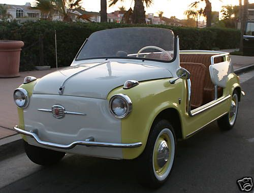FIAT 600 JOLLY Oh. My. I. Want. This. Car.