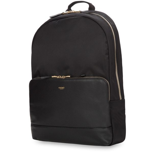 Mount Laptop Backpack from KNOMO: Official Store | Black Leather Backpack | Womens Backpack | Laptop Bags | Designed by KNOMO London