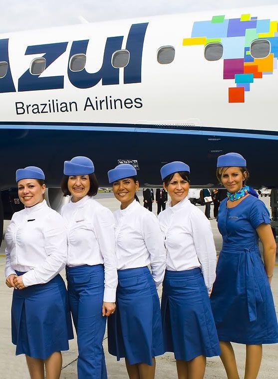 Azul Brazilian Airlines Flight Attendants ~ Cabin Crew Photos