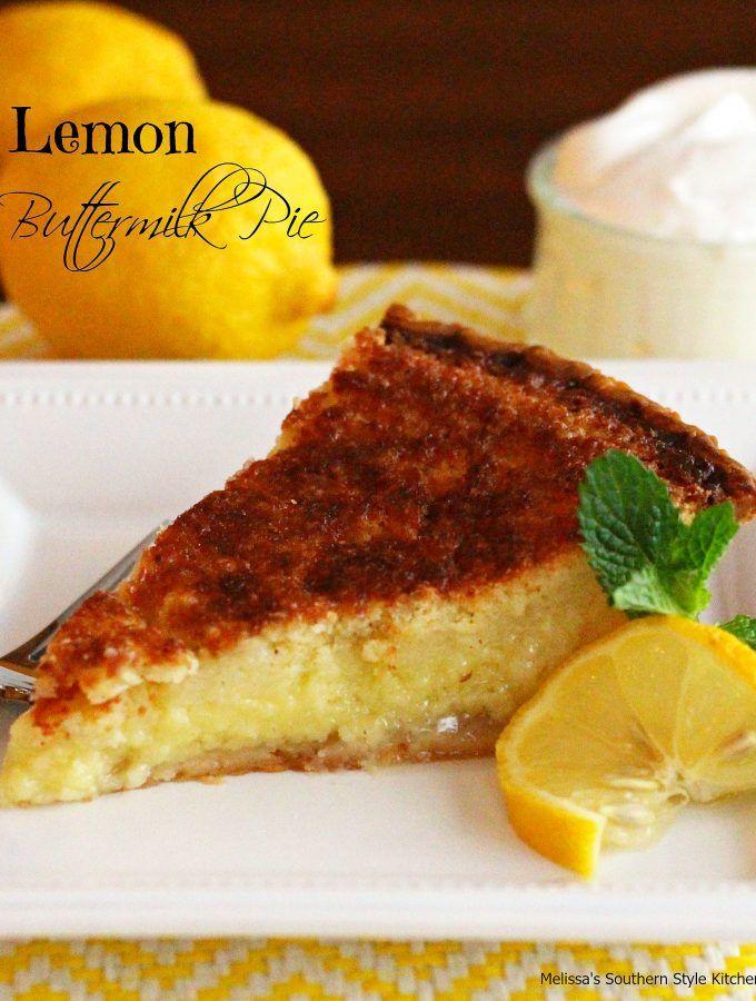 Lemon Buttermilk Pie Buttermilk Pie Lemon Recipes Lemon Chess Pie