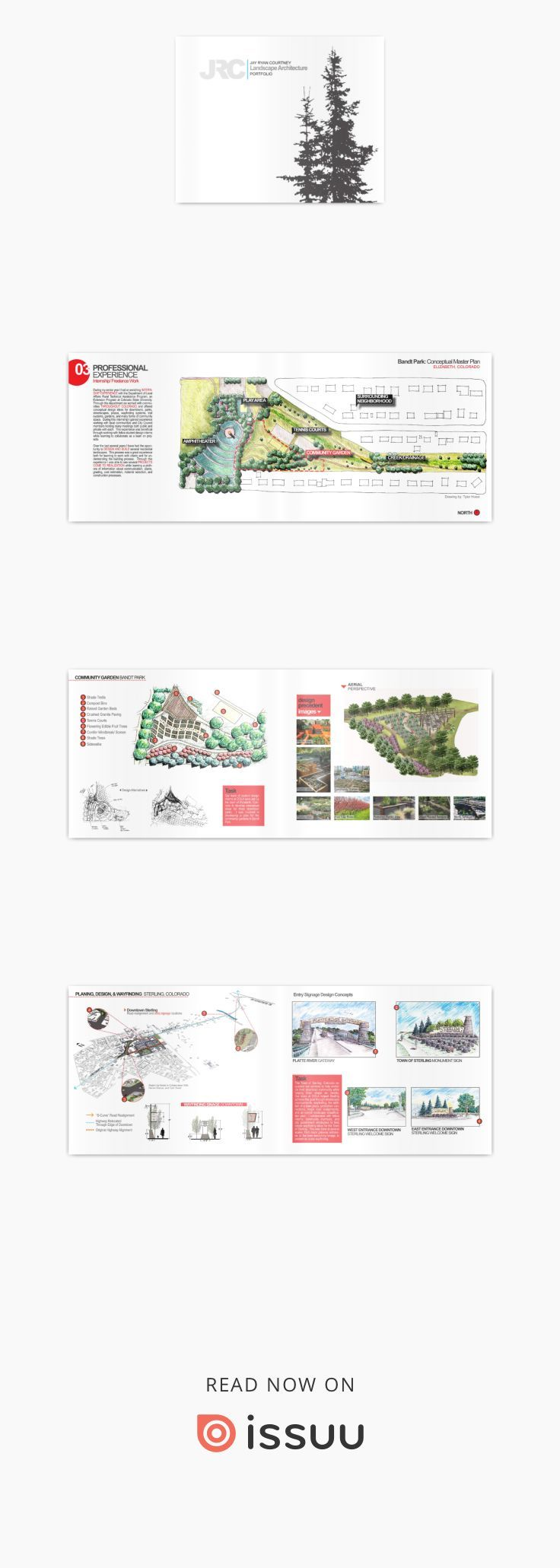 Jay Ryan Courtney // Landscape Architecture Portfolio  This portfolio showcases projects I created in my professional experience and while earning my BSLA at Colorado State University.