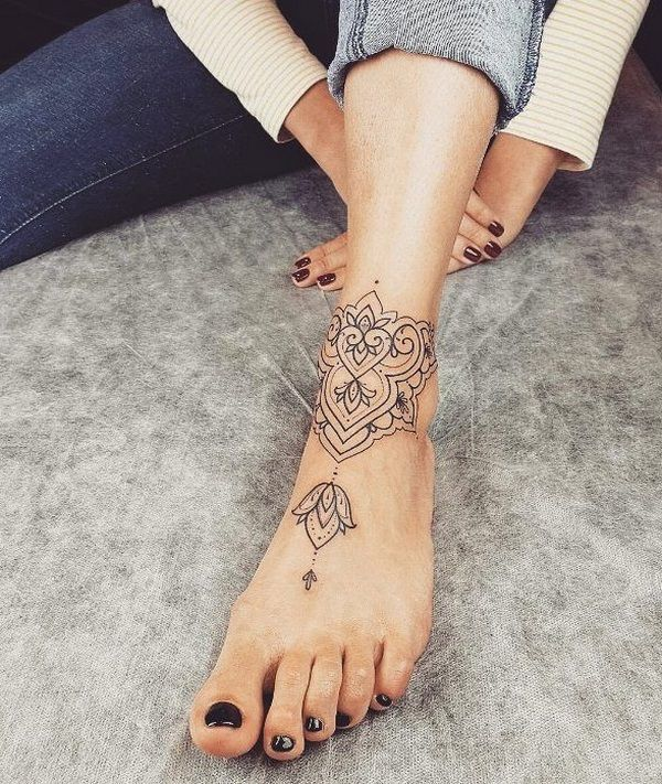 Mandala Tattoo Ideas For Women Ankle Bracelet Tattoos Ankle Ideas Ankle Tattoos For Women Foot Tattoos Foot Tattoos For Women