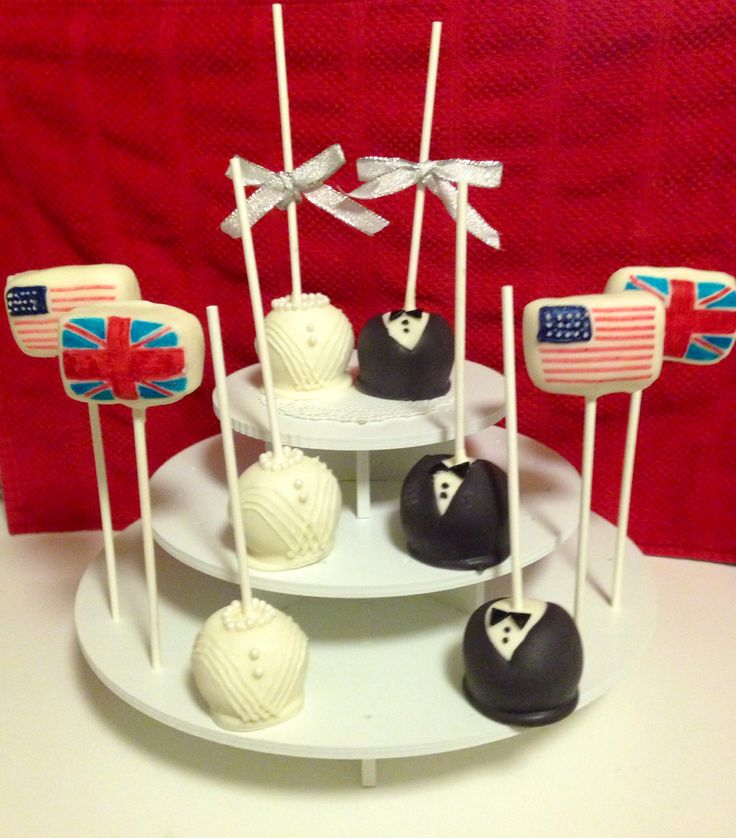 made these cake pops for a british american tea party bridal shower bridal shower ideas pinterest british american cake pop and bridal showers