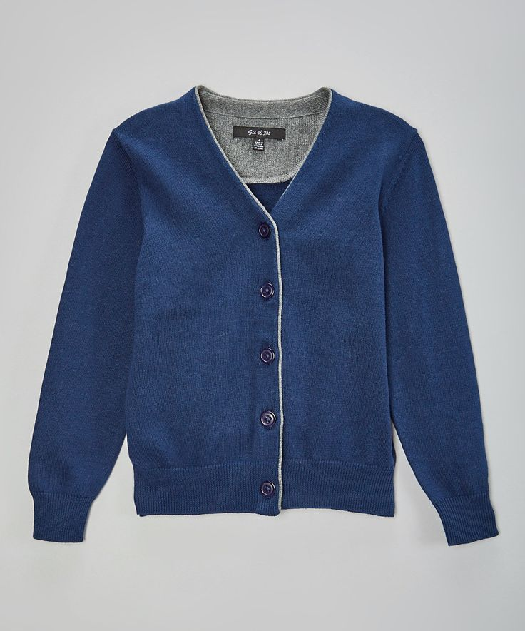 Look at this GIL & JAS Navy Elbow Patch Cardigan - Toddler & Boys on #zulily today!