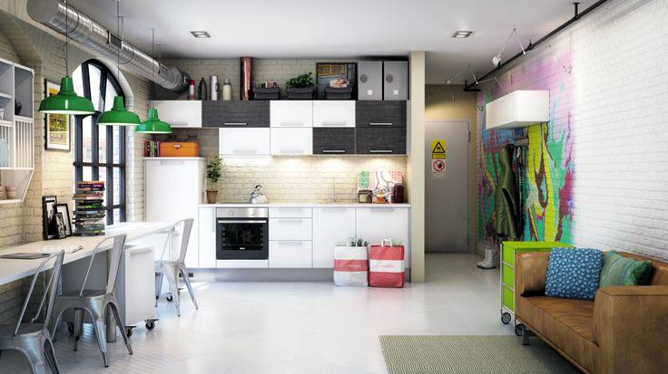 Toimiva keittiö, jossa on tilaa myös luovuudelle