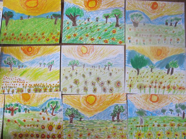 Look at our AMAZING oil pastel artworks that the kids did in our Holiday Workshops! Still time to book for a summer workshop! www.FineArt4Kids.com #kidsactivities   #hertfordshire   #northlondon