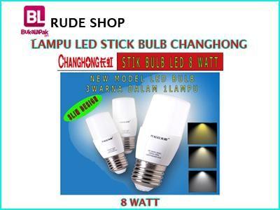 #jual #Lampu #LED Stick Bulb 8 Watt 3 Warna #Changhong harga #murah dan terjangkau