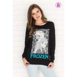 Black reversible Frozen graphic sweatshirt