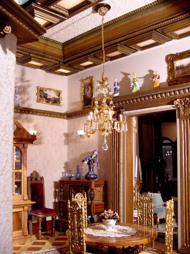 Elegant miniature rooms dolls house interiors
