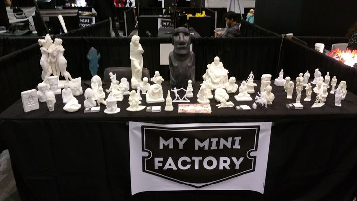 Shout out to our pals at @MyMiniFactory. It was GREAT seeing you guys last week. And awesome setup you had there!