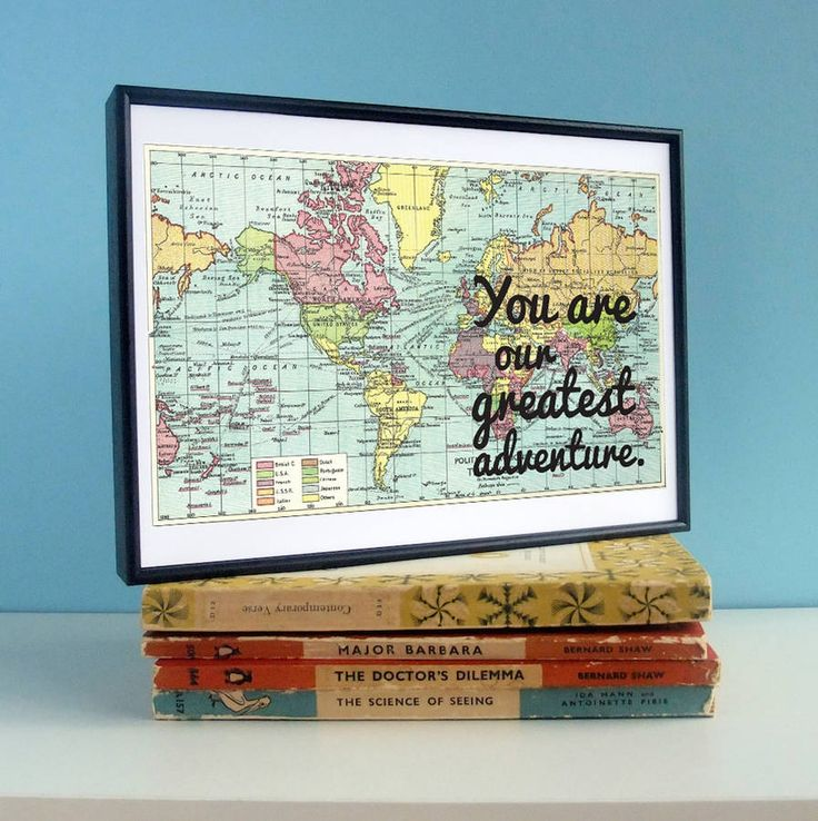 hardtofind. | Our greatest adventure map print nursery art