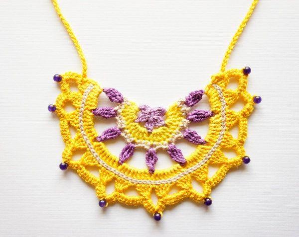 Crochet Necklace Pattern by JaKiGu PDF Pattern Tribal by JaKiGu