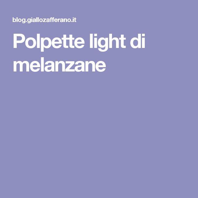 Polpette light di melanzane
