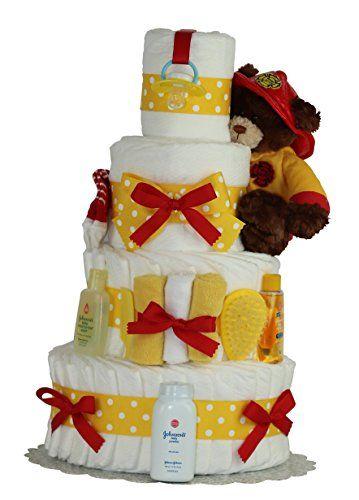 FIREMAN 3 or 4 TIERS Diaper Cake diapercakewalk https://www.amazon.com/dp/B01BOVM9BG/ref=cm_sw_r_pi_dp_x_37dWybSCJN4CH