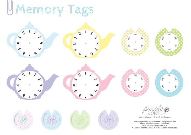 Piccolecose: Memory Tags teiera. Per non dimenticare le scadenze...di tè e tisane!
