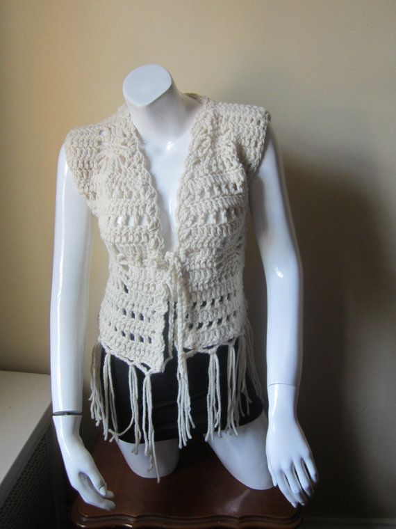 elegantcrochets on etsy http://www.etsy.com/listing/160906637/crochet-fringe-vest-fall-fashion