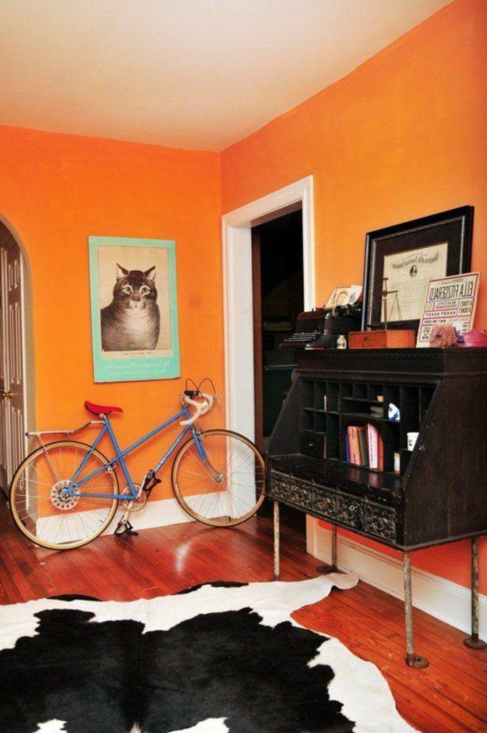 Wandfarben Ideen Einrichtungsbeispiele Holz Orange Jung Design