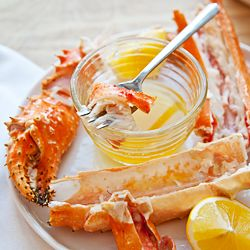 The secret to cooking Alaskan King Crab Legs at home: steamed in the microwave! Pass the butter. #foodgawker