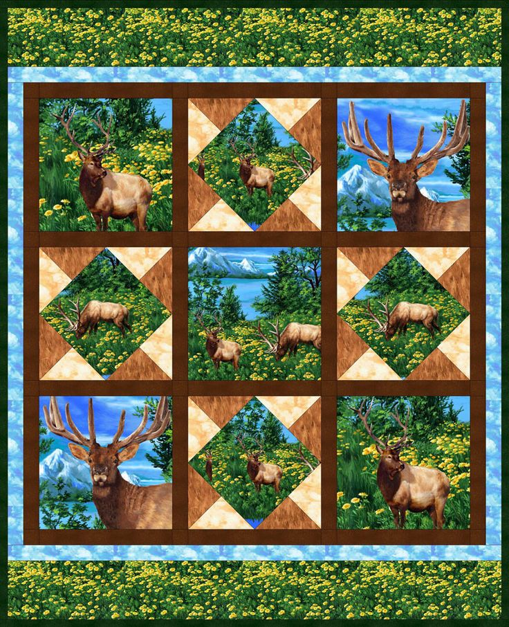 267 best Quilting with panels images on Pinterest | Panel quilts ... : wildlife quilt fabric - Adamdwight.com